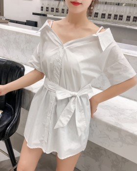 Strapless sweet sling fashion shirt for women