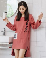 Korean style night dress cartoon pajamas for women