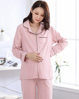 Breast-feeding front postnatal nursing clothing a set