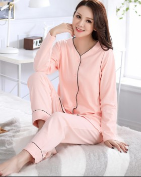 Pure cotton absorb sweat nursing clothing thin pajamas