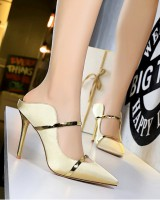 Pointed high-heeled European style slim sexy slippers
