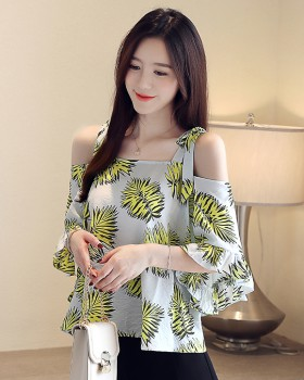 Loose tops Western style chiffon shirt for women