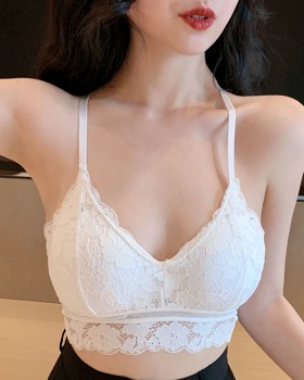 Cross sling no rims lace sexy hollow wrapped chest summer vest