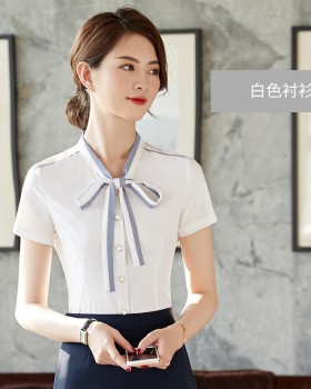 Short sleeve shirt profession business suit for women