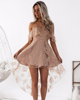 Sexy spring and summer lace European style sling dress