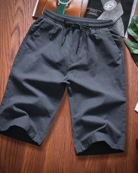 All-match embroidered pants slim shorts for men