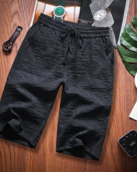 Green Korean style youth slim fashion summer shorts for men
