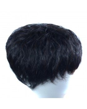 Middle-aged short hairpiece hot corn white wig