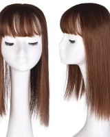 Long straight hair fiber wig