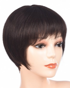 Natural human hair short bangs