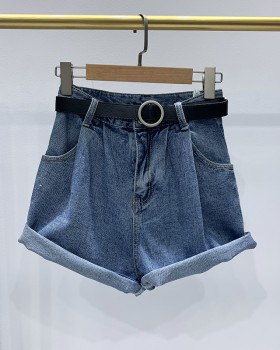 Washed loose shorts all-match summer short jeans