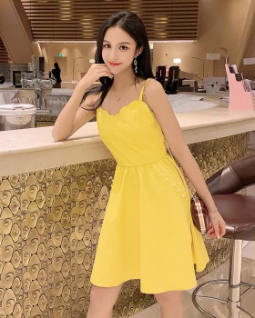 Strapless summer dress sexy lady strap dress