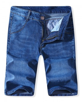 Summer youth micro-bomb slim navy blue jeans