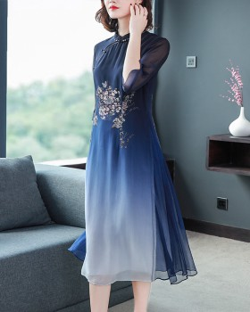 Spring and summer silk fashion dress for women