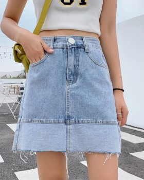 Korean style short skirt package hip skirt for women