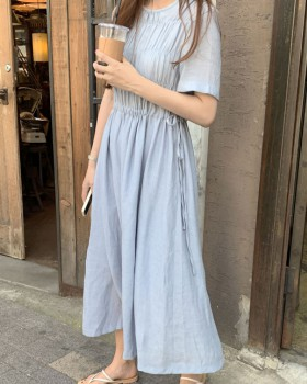 Summer Korean style drawstring maiden many beautiful dress