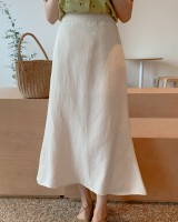 High waist simple long Korean style skirt
