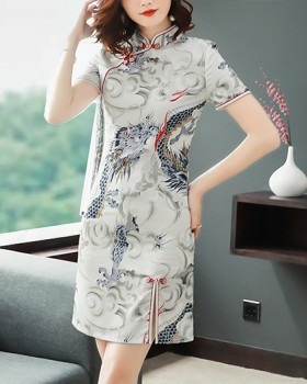 Chinese style fashion short dress light maiden cheongsam