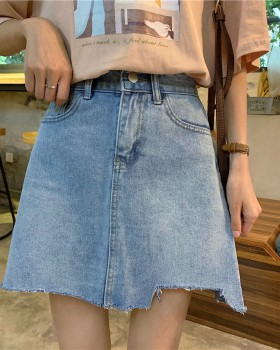 High waist summer skirt denim short skirt for women