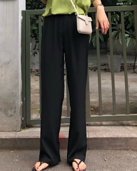 High waist loose suit pants wide leg pants for women