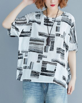 Simple fat colors T-shirt slim short sleeve tops