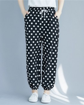 Harem polka dot Casual loose bloomers for women