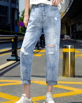 Nine tenths spring and summer jeans holes loose harem pants