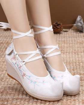 Spring lady high slipsole elegant shoes for women