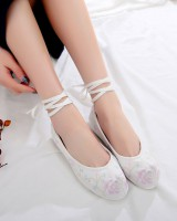 Spring colors Han clothing embroidered shoes for women