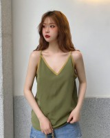 Korean style summer sleeveless loose sweet halter tops