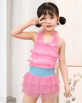 Pure big child conjoined skirt spa girl swimwear