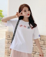 Slim summer patch short sleeve T-shirt for women