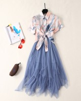 Sexy skirt chiffon dress 2pcs set for women