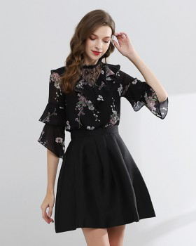 Temperament splice fashion spring and summer dress for women