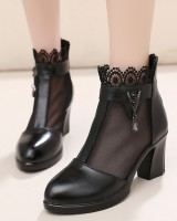 Rhinestone hollow sandals lace summer boots for women