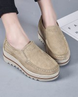 Cozy shoes genuine leather platform shoes for women