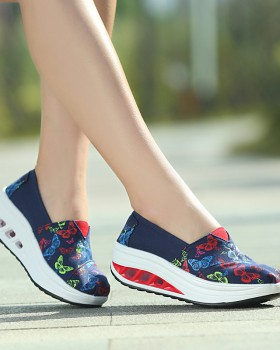 Breathable shoes canvas shake shoes for women