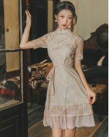 Light retro dress fashionable embroidery cheongsam