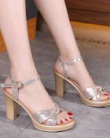 Middle-heel thick sandals fashion platform for women