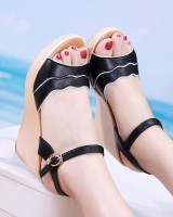 Trifle cingulate high-heeled shoes thick crust sandals for women