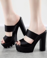 Thick fashion shoes summer high-heeled platform for women