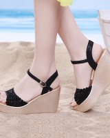 Bohemian style sandals thick crust platform for women