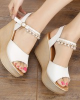 Korean style high-heeled slipsole sandals for women