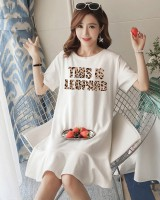 Cotton cartoon Casual pajamas summer girl night dress
