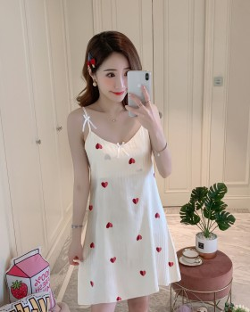 Summer pajamas with chest pad night dress for women