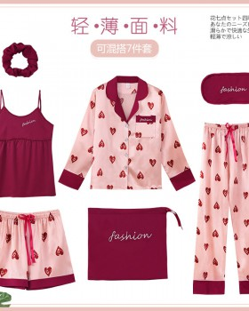 Wears outside student pajamas 7pcs set for women