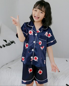 Spring and summer short sleeve homewear pajamas a set
