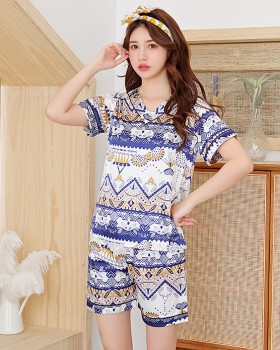 Short sleeve lovely summer Casual pajamas a set