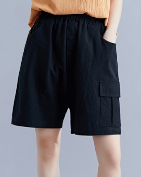 Loose personality cotton linen Casual shorts for women