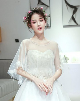 Thin summer wedding shawl bride lace cloak for women